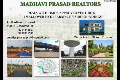 200 Sq Yrd Residential Plot for Sale In Madhaviprasad Realtors, Miyapur, Hyderabad For Rs 27.40 Lakh | Property Image 1 Large