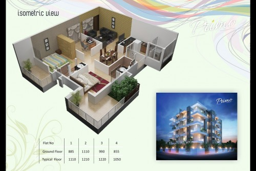 2 Bedroom 1050 Sq Ft Apartment for Sale In Land Mark Nest Primo, Hebbal, Bangalore For Rs 52.08 Lakh | Property Image 3 Large