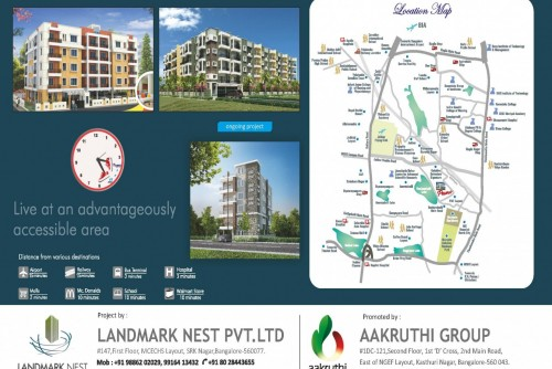 2 Bedroom 1050 Sq Ft Apartment for Sale In Land Mark Nest Primo, Hebbal, Bangalore For Rs 52.08 Lakh | Property Image 4 Large