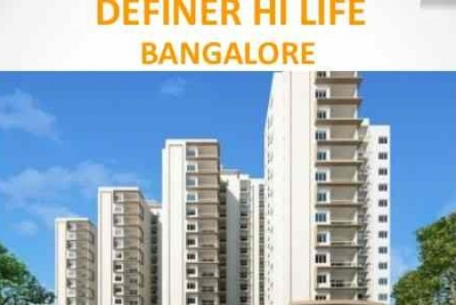 2 Bedroom 1196 Sq Ft Apartment for Sale In Definer Hi Life, Margondanahalli, Bangalore For Rs 64.07 Lakh | Property Image 1 Large