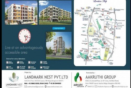 2 Bedroom 1230 Sq Ft Apartment for Sale In Land Mark Nest Primo, Hebbal, Bangalore For Rs 59.98 Lakh | Property Image 2 Large