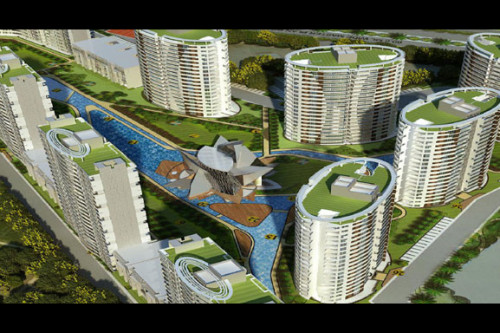 3 Bedroom 1920 Sq Ft Apartment for Sale In The Lake, New Chandigarh, Chandigarh For Rs 80.85 Lakh | Property Image 1 Large